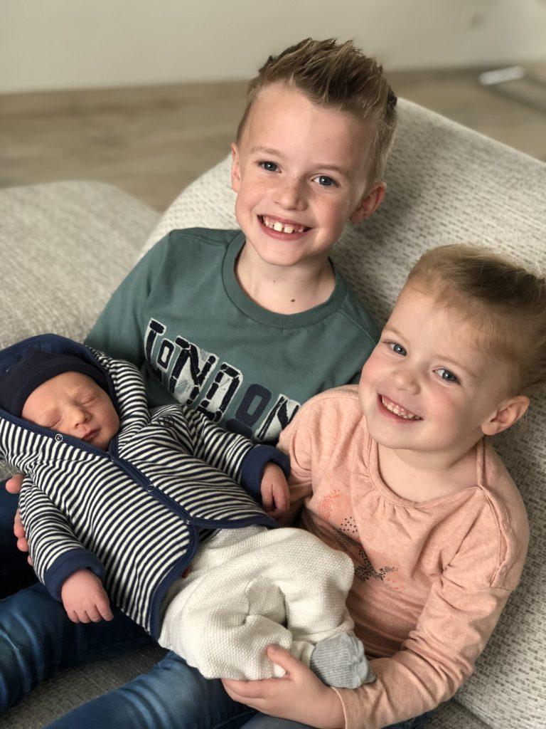 Lisette is bevallen van hun derde kindje Bryce